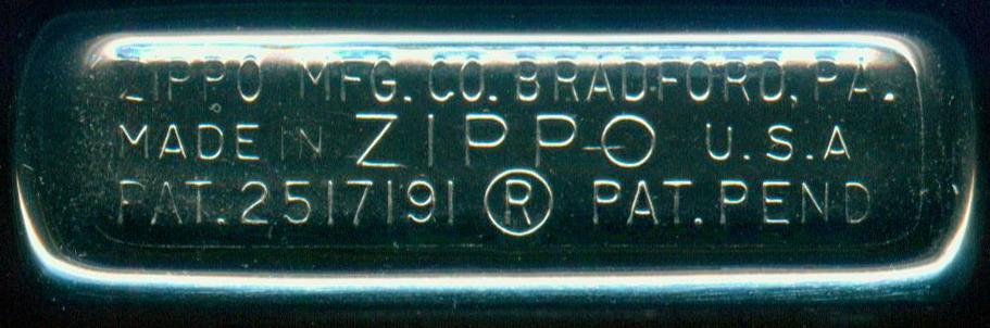 zippo lighter identification chart